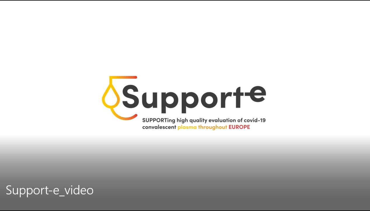 Видео на SUPPORT-E за целта на проекта и даряването на плазма